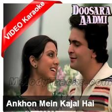 Aankhon Mein Kajal Hai - Mp3 + VIDEO Karaoke - Kishore - Doosara Aadmi