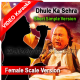 Dhule ka sehra suhana - Female Scale Version - Mp3 + VIDEO Karaoke - Short Simple Version