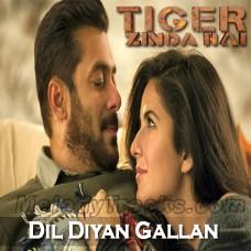 Dil Diyan Gallan - Karaoke Mp3 - Atif Aslam - Tiger Zinda Hai