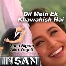 Dil Mein Ek Khwahish Hai - Karaoke Mp3 - Sonu Nigam - 2005 - Alka - Insaan