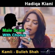 Kamli - Bulleh Shah - Karaoke Mp3 - Male Scale - With Chorus - Hadiqa Kiyani - Wajd