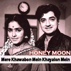 Mere khawabon mein khayalon mein - Karaoke Mp3 - Mukesh / Lata - Honeymoon