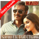 Sanu Ek Pal Chain - Raid - Mp3 + VIDEO Karaoke - Rahat Fateh Ali - 2018