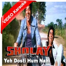 Yeh Dosti Hum Nahi Todenge - Mp3 + VIDEO Karaoke - Sholay - 1975 - Kishore Kumar