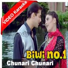 Chunari chunari - Mp3 + VIDEO Karaoke - Bivi No 1 - Abhijeet - Anuradha
