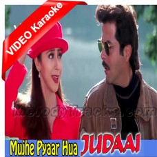 Haan mujhe Pyaar Hua - Mp3 + VIDEO Karaoke - Abhijeet - Alka - Judaai 1997