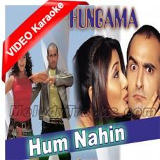 Hum nahi tere dushmano mein - Mp3 + VIDEO Karaoke - Sonu - Abhijeet - Alka