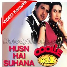 Husn hai suhana - Mp3 + VIDEO Karaoke - Coolie No1 - Abhijeet - Chandana