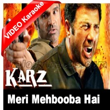 Meri mehbooba hai tu - Mp3 + VIDEO Karaoke - Karz (2002) - Abhijeet - Kumar Sanu
