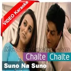 Suno na suno na - Mp3 + VIDEO Karaoke - Chalte Chalte - Abhijeet