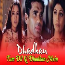Tum dil ki dhadkan mein - Karaoke Mp3 - Dhadkan (2000) - Abhijeet - Alka