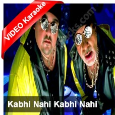 Kabhi nahi - Karaoke Mp3 + VIDEO - Adnan Sami