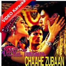 Chahe zubaan se kuch na - MP3 + VIDEO Karaoke - Dil hai tumhara (2000) - Sonu Nigam - Alka