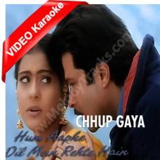 Chup Gaya Badli Mein Jake - Mp3 + VIDEO Karaoke - Udit Narayan - Alka - Hum Aapke Dil Mein Rehte Hain - 1999