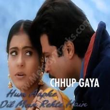 Chup gaya badli mein jake - Karaoke Mp3 - Udit Narayan - Alka - Hum Aapke Dil Mein Rehte Hain 1999