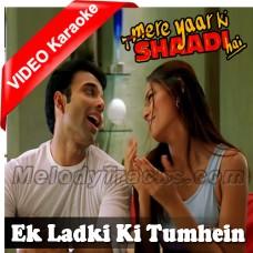 Ek Ladki Ki Tumhen - Mp3 + VIDEO Karaoke - Udit Narayan - Alka - Mere Yaar Ki Shadi Hai - 2002