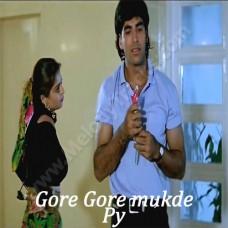 Gore Gore Mukhde Pe Kala Kala Chasma - Karaoke Mp3 - Udit Narayan - Alka - Suhag - 1994