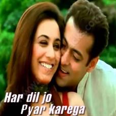 Har Dil Jo Pyar Kare Ga - Karaoke Mp3 - Udit Narayan - Alka - 2000