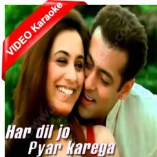 Har Dil Jo Pyar Kare Ga - Mp3 + VIDEO Karaoke - Udit Narayan - Alka - 2000