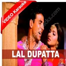 Lal Dopatta - Mp3 + VIDEO Karaoke - Udit Narayan - Alka - Mujhse Shaadi Karo Gi - 2004