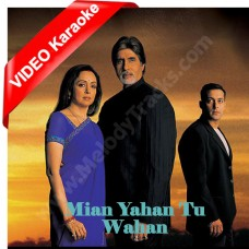 Main yahan tu wahan - Mp3 + VIDEO karaoke - Bhaghban (2003) - Amitabh - Alka