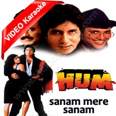 Sanam mere sanam - MP3 + VIDEO karaoke - Amit Kumar / Alka