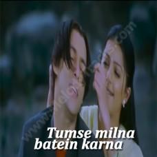 Tumse Milna - Karaoke Mp3 - Udit Narayan - Alka - Tere Naam - 2003