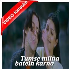 Tumse Milna - Mp3 + VIDEO Karaoke - Udit Narayan - Alka - Tere Naam - 2003