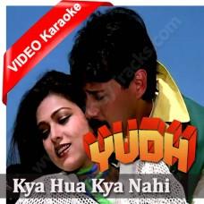 Kya Hua Kya Nahi Mujhko - MP3 + VIDEO karaoke - Amit Kumar / Asha
