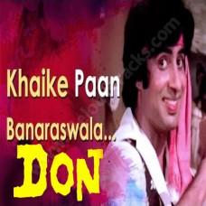 Khaike paan banaras wala - Karaoke Mp3  - Don (1978) - Amitabh Bachchan
