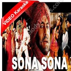 Sona sona dil mera sona - Mp3 + VIDEO karaoke - Amitabh - Jaspinder Narula - Sonu