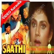 Aaj hum tum o sanam - MP3 + VIDEO karaoke - Jolly Mukherji - Anuradha