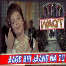 Aage bhi jaane na tu - Karaoke Mp3 - Asha Bhonsle - Waqt