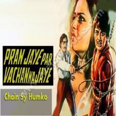 Chain se humko kabhi - Karaoke Mp3 - Asha Bhonsle - Paran jaye par vachan na jaye