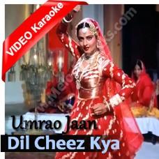 Dil cheez kya hai ap meri jaan - Mp3 + VIDEO Karaoke - Asha Bhonsle - Umrao jaan (1981)