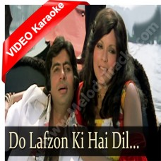 Do lafzon ki hai - Mp3 + VIDEO Karaoke - Asha Bhonsle - The Great Gambler (1979)