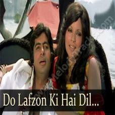 Do lafzon ki hai - Karaoke Mp3 - Asha Bhonsle - The Great Gambler (1979)