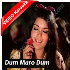 Dum Maro Dum - Mp3 + VIDEO Karaoke - Asha Bhonsle - Hare krishna hare rama (1971)
