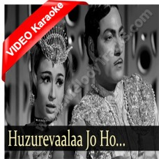 Huzure aala - With male vocal - Mp3 + VIDEO Karaoke - Abhijeet - Asha Bhonsle