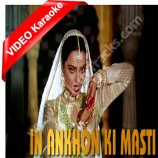 In aankhon ki masti ke - Mp3 + VIDEO Karaoke - Asha Bhonsle - Umrao jaan (1981)