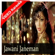 Jawani janeman - Mp3 + VIDEO Karaoke - Asha Bhonsle - Namak halaal