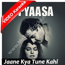Jaane Kya Tune Kahi - Mp3 + VIDEO Karaoke - Geeta Dutt - Pyaasa 1957