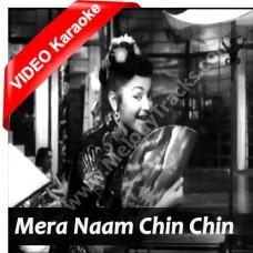 Mera Naam Chin Chin Chu - Mp3 + VIDEO Karaoke - Geeta Dutt - Howrah Bridge 1958