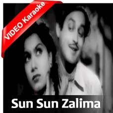 Sun Sun Sun Zalima - Mp3 + VIDEO Karaoke - Geeta Dutt - Aar Paar 1954