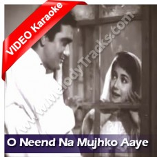 Neend na mujhko aaye - Mp3 + VIDEO Karaoke - Hemant Kumar