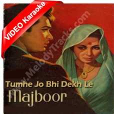 Tumhe jo bhi dekh le - Mp3 + VIDEO Karaoke - Hemant Kumar