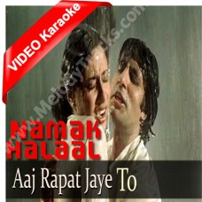 Aaj rapat jaen to - Mp3 + VIDEO Karaoke - Kishore Kumar