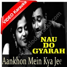 Aankhon mein kya ji - Mp3 + VIDEO Karaoke - Kishore Kumar