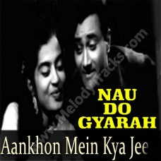 Aankhon mein kya ji - Karaoke Mp3 - Kishore Kumar