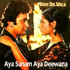 Aya sanam aya deewana tera - Karaoke Mp3 - Kishore Kumar - Bade Dil Wala